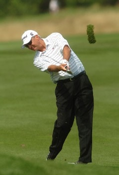 Don Pooley in action during the first round of the 2005 Boeing Greater Seattle Classic at TPC Snoqualmie in Snoqualmie, Washington August 19, 2005.Photo by Steve Grayson/WireImage.com