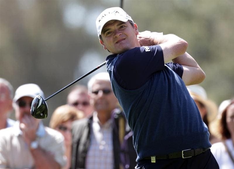 MALAGA, SPAIN - MARCH 27:  Paul Lawrie of Scotland during the final round of the Open de Andalucia at the Parador de Malaga Golf Course on March 27, 2011 in Malaga, Spain.  (Photo by Ross Kinnaird/Getty Images)