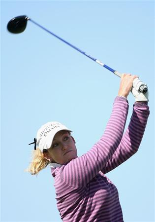PHOENIX, AZ - MARCH 27:  Cristie Kerr tees off on the 16th hole during the second round of the J Golf Phoenix LPGA International golf tournament at Papago Golf Course on March 27, 2009 in Phoenix, Arizona.  (Photo by Christian Petersen/Getty Images)
