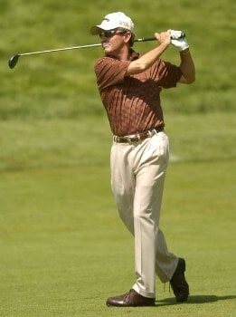 Mark McNulty in action during the second round of the 2005 U.S. Senior Open Championship at NCR Country Club in Kettering, Ohio July 29, 2005.Photo by Steve Grayson/WireImage.com