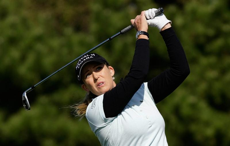 INCHEON, SOUTH KOREA - OCTOBER 29:  Cristie Kerr of United States hits a tee shot on the 3rd hole during the 2010 LPGA Hana Bank Championship at Sky 72 golf club on October 29, 2010 in Incheon, South Korea.  (Photo by Chung Sung-Jun/Getty Images)