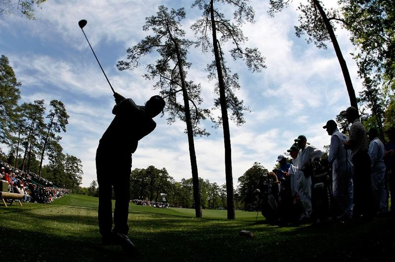 AUGUSTA, GA - APRIL 06:  Oliver Wilson of England hits a tee shot during a practice round prior to the 2009 Masters Tournament at Augusta National Golf Club on April 6, 2009 in Augusta, Georgia.  (Photo by Harry How/Getty Images)