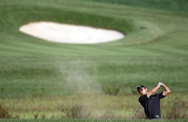 BARCELONA, SPAIN - MAY 06:  Anthony Kang of the USA during the second round of the Open de Espana at the the Real Club de Golf El Prat on May 6 , 2011 in Barcelona, Spain.  (Photo by Ross Kinnaird/Getty Images)