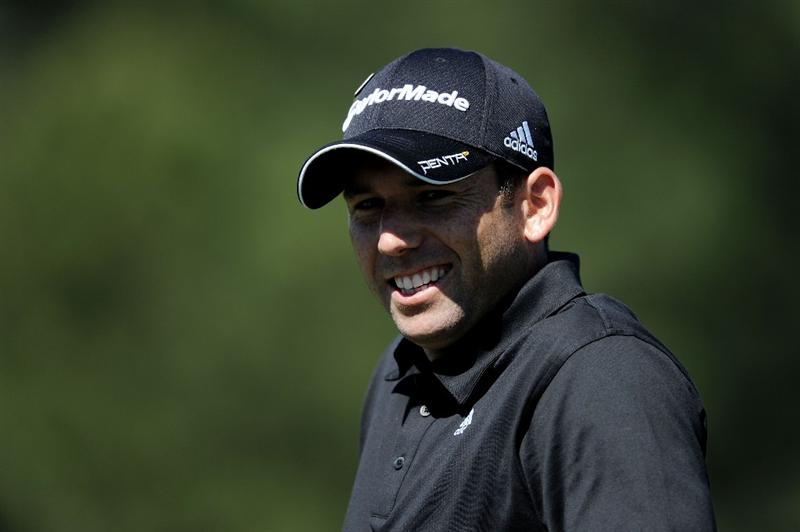 AUGUSTA, GA - APRIL 06:  Sergio Garcia of Spain looks on during a practice round prior to the 2011 Masters Tournament at Augusta National Golf Club on April 6, 2011 in Augusta, Georgia.  (Photo by Harry How/Getty Images)