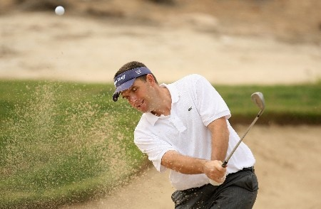 DOHA, QATAR - JANUARY 27:  Anthony Wall of England on the par four 6th hole during the final round of the Commercialbank Qatar Masters held at the Doha Golf Club on January 27, 2008 in Doha,Qatar.  (Photo by Ross Kinnaird/Getty Images)