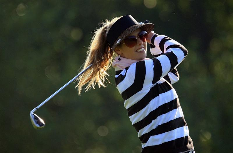 HUIXQUILUCAN, MEXICO - MARCH 21:  Anna Rawson of Australia hits her tee shot on the 11th hole during the second round of the MasterCard Classic at the BosqueReal Country Club on March 21, 2009 in Huixquiucan, Mexico.  (Photo by Scott Halleran/Getty Images)