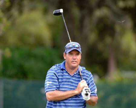 Rich Beem drives from the 18th tee during the second round of the 2005 Funai Classic at World Disney World Resort in Lake Buena Vista, Florida on October 21, 2005.Photo by Al Messerschmidt/WireImage.com