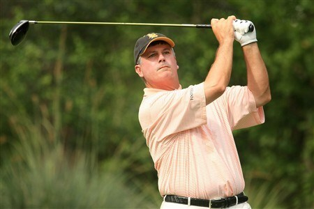 PONTE VEDRA BEACH, FL - MAY 10: Paul Goydos hits his tee shot on the 11th hole during the third round of THE PLAYERS Championship on THE PLAYERS Stadium Course at TPC Sawgrass on May 10, 2008 in Ponte Vedra Beach, Florida.  (Photo by Scott Halleran/Getty Images)
