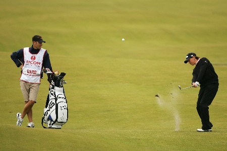 ST ANDREWS, UNITED KINGDOM - AUGUST 03:  Wendy Ward of USA hits her approach to the 18th green during the Second Round of the 2007 Ricoh Women's British Open held on the Old Course at St Andrews on August 3, 2007 in St Andrews, Scotland.  (Photo by Warren Little/Getty Images)