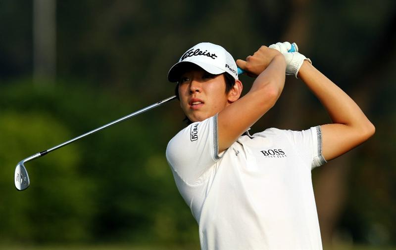 HONG KONG - NOVEMBER 17: Noh Seung-Yul of South Korea plays his 2nd shot on the 17th hole during previews ahead of the USB Hong Kong Open at The Hong Kong Golf Club on November 17, 2010 in Hong Kong, China.  (Photo by Stanley Chou/Getty Images)