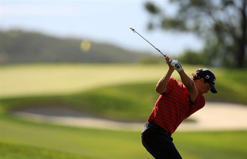 LA JOLLA, CA - FEBRUARY 05:  Parker McLachlin hits a shot on the seventh hole during the first round of the Buick Invitational on the South Course at the Torrey Pines Golf Course on February 5, 2009 in La Jolla, California.  (Photo by Scott Halleran/Getty Images)