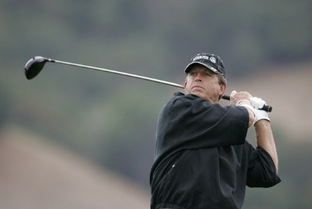 Dana Quigley tees off on #16 during the second round of the Charles Schwab Cup Championship - Friday October 28, 2005 at Sonoma Golf Club - Sonoma, California.Photo by Chris Condon/PGA TOUR/WireImage.com
