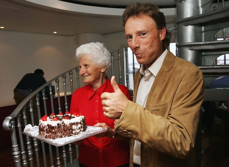 Bernhard Langer and his mother, Wally