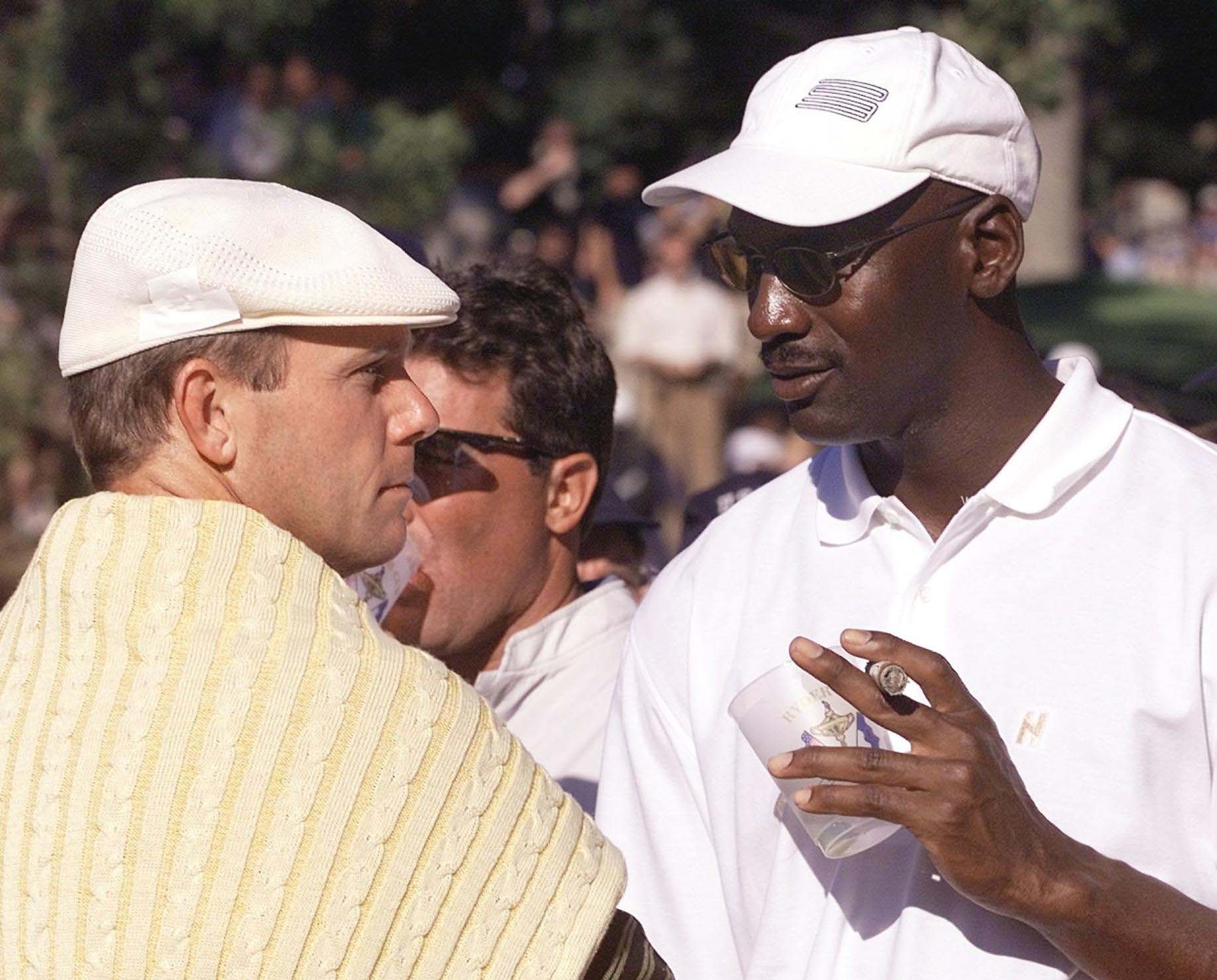 Michael Jordan and Payne Stewart