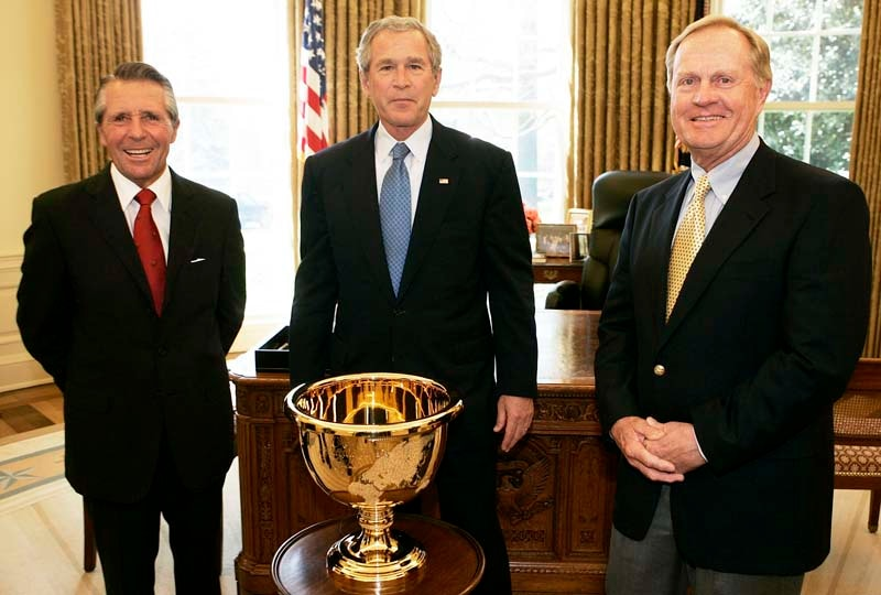 Gary Player, President George W. Bush, Jack Nicklaus