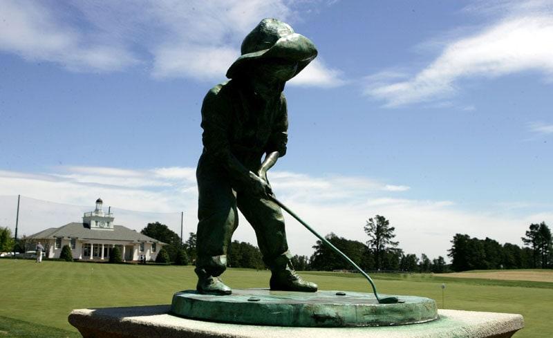 Putter Boy Statue at Pinehurst