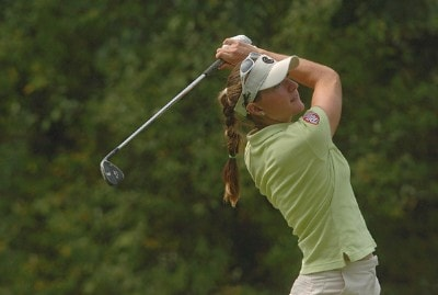 Brittany Lang during the third round of the 2006 Wendy's Championship for Children held at Tartan Fields Golf Club in Dublin, Ohio on August 26, 2006.Photo by Steve Grayson/WireImage.com