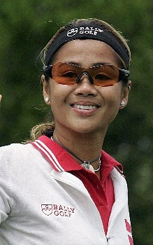 Jennifer Rosales of the Phillipines smiles  during the first round of the LPGA 2005 Michelob Ultra Open at Kingsmill River Course in Williamsburg, Virginia.Photo by Jim Rogash/WireImage.com