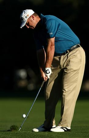 BOISE , ID - SEPTEMBER 12:  Bill Lunde hits his second shot on the 1st hole during the second round of the Albertson's Boise Open at the Hillcrest Country Club on September 12, 2008 in Boise, Idaho.  (Photo by Jonathan Ferrey/Getty Images)