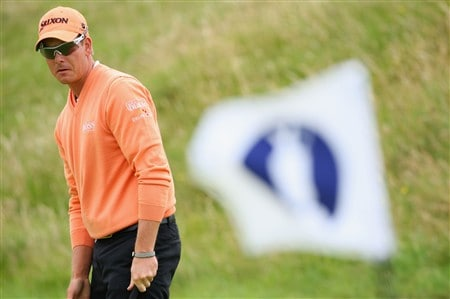 SOUTHPORT, UNITED KINGDOM - JULY 15:  Henrik Stenson of Sweden watches a chip shot during the second practice round of the 137th Open Championship on July 15, 2008 at Royal Birkdale Golf Club, Southport, England.  (Photo by Stuart Franklin/Getty Images)