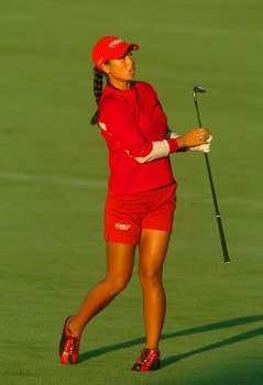 Hana Kim in action during the first round of the LPGA's Wendy's Championship For Children at Tartan Fields Golf Club in Dublin, Ohio August 25, 2005.Photo by Steve Grayson/WireImage.com