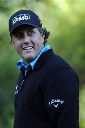 AUGUSTA, GA - APRIL 06:  Phil Mickelson walks in a fairway during a practice round prior to the 2011 Masters Tournament at Augusta National Golf Club on April 6, 2011 in Augusta, Georgia.  (Photo by Harry How/Getty Images)