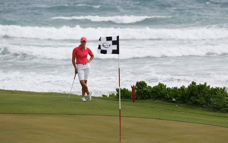 MONTEGO BAY, JAMAICA - APRIL 16:  Suzann Pettersen of Norway waits to putt on the fifth green during her semifinal match of The Mojo 6 Jamaica LPGA Invitational at Cinnamon Hill Golf Course on April 16, 2010 in Montego Bay, Jamaica.  (Photo by Kevin C. Cox/Getty Images)