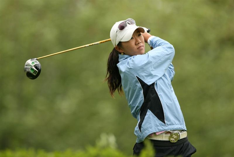 CLIFTON, NJ - MAY 17: Ji Young Oh of South Korea hits her tee shot on the 6th hole during the final round of the Sybase Classic presented by ShopRite at Upper Montclair Country Club on May 17, 2009 in Clifton, New Jersey. (Photo by Hunter Martin/Getty Images)