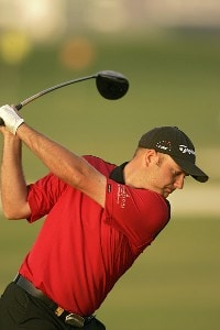 Graeme Storm during the first round of the Dubai Desert Classic at the Emirates Golf Club in Dubai, United Arab Emirates on February 2, 2006.Photo by Pete Fontaine/WireImage.com