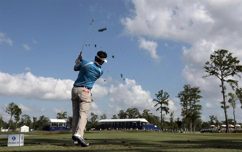 AVONDALE, LA - APRIL 24: Charlie Wi hits his drive from the 17th tee during the second round of the Zurich Classic at TPC Louisiana on April 24, 2009  in Avondale, Louisiana. (Photo by Dave Martin/Getty Images)