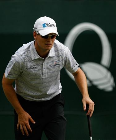 CHARLOTTE, NC - MAY 03:  Zach Johnson lines up a putt on the 13th hole during the third round of the Quail Hollow Championship at the Quail Hollow Club on May 2, 2009 in Charlotte, North Carolina.  (Photo by Streeter Lecka/Getty Images)