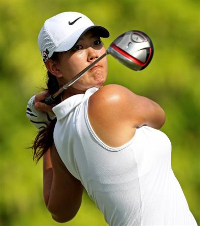 SINGAPORE - FEBRUARY 27:  Michelle Wie of the USA hits his tee-shot on the sixth hole during the third round of the HSBC Women's Champions at the Tanah Merah Country Club on February 27, 2010 in Singapore.  (Photo by Andrew Redington/Getty Images)