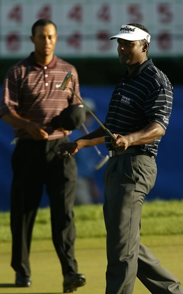 Vijay Singh and Tiger Woods
