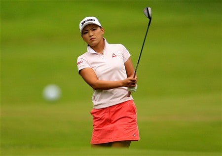 EDINA, MN - JUNE 27:  Sakura Yokomine of Japan watches a shot on the 10th hole during the second round of the 2008 U.S. Women's Open at Interlachen Country Club on June 27, 2008 in Edina, Minnesota.  (Photo by Scott Halleran/Getty Images)