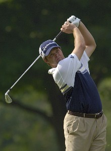 Robert Damron during the first round the U.S. Bank Championship in Milwaukee at Brown Deer Park Golf Course in Milwaukee, Wisconsin, on July 27, 2006.Photo by Steve Levin/WireImage.com