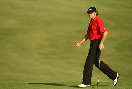 MALLORCA, SPAIN - OCTOBER 26:  Andrew Marshall of England on the 4th green during the first round of the Mallorca Classic 2007 at Pula Golf Club on October 26, 2007 in Son Servera, Mallorca.  (Photo by Ian Walton/Getty Images)