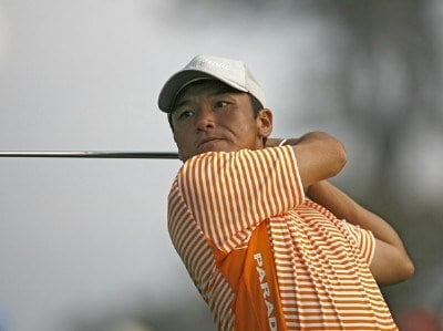 Shigeki Maruyama during the second round of the 2006 Masters at the Augusta National Golf Club in Augusta, Georgia on April 7, 2006.Photo by Hunter Martin/WireImage.com