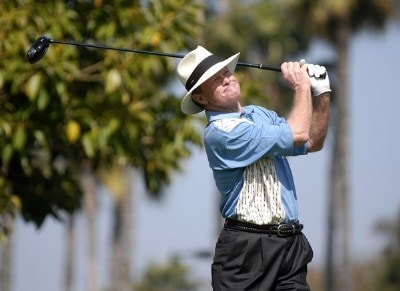 Tom Kite in action during the secound round of the 2007 PGA Champion's TOUR at Newport Beach Country Club in Newport Beach, California on March 10, 2007. Champions Tour - 2007 Toshiba Classic - Second RoundPhoto by Steve Grayson/WireImage.com