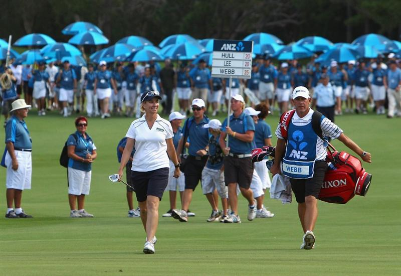 GOLD COAST, AUSTRALIA - MARCH 07:  Karrie Webb of Australia walks up the 18th fairway during round four of the 2010 ANZ Ladies Masters at Royal Pines Resort on March 7, 2010 in Gold Coast, Australia.  (Photo by Ryan Pierse/Getty Images)
