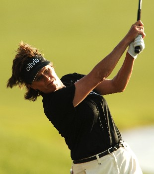 Rosie Jones in action during the second round of the LPGA's 2005 Kraft Nabisco Championship, at Mission Hills Country Club in Rancho Mirage, California March 25, 2005.