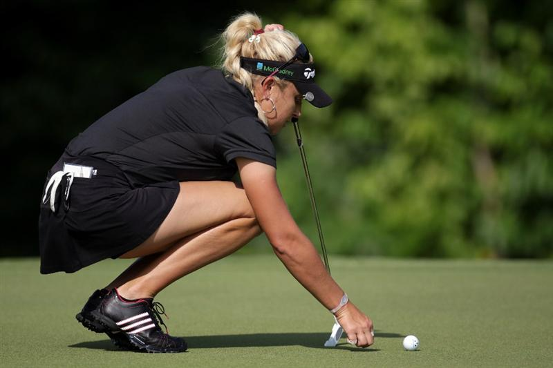SINGAPORE - FEBRUARY 27:  Natalie Gulbis of the USA during the final round of the HSBC Women's Champions at Tanah Merah Country Club  on February 27, 2011 in Singapore, Singapore.  (Photo by Ross Kinnaird/Getty Images)