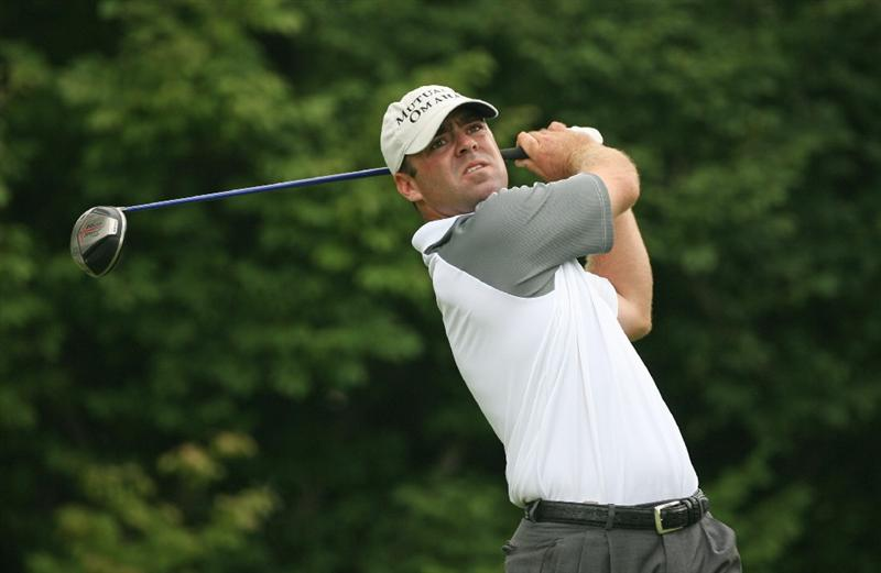COLUMBUS, OH - JULY 30 : Ryan Armour hits his tee shot on the 16th hole during the first round of the Nationwide Children's Hospital Invitational at The Ohio State Golf Club on July 30, 2009 in Columbus, Ohio. (Photo by Hunter Martin/Getty Images)
