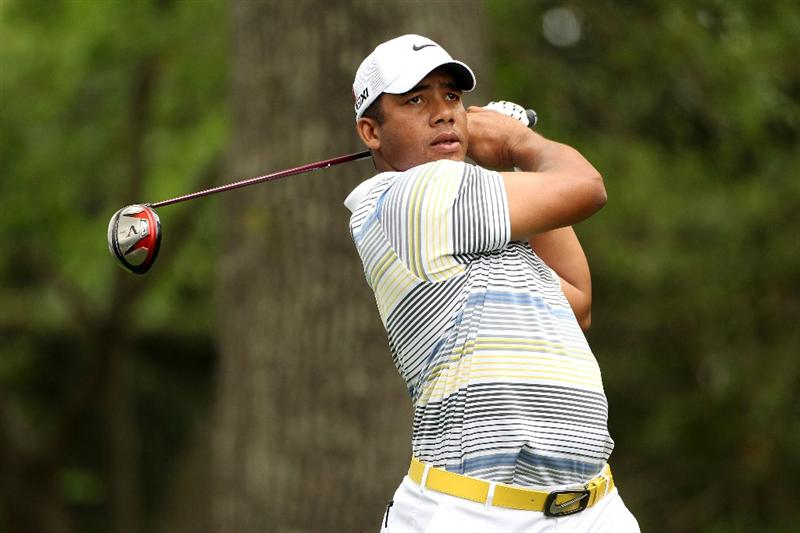 AUGUSTA, GA - APRIL 08:  Jhonattan Vegas of Venezuela watches his tee shot on the second hole during the second round of the 2011 Masters Tournament at Augusta National Golf Club on April 8, 2011 in Augusta, Georgia.  (Photo by Andrew Redington/Getty Images)
