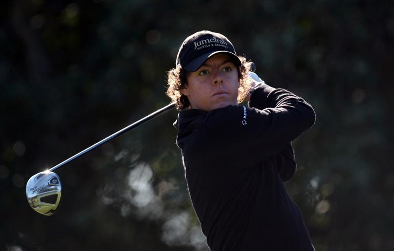 SOTOGRANDE, SPAIN - OCTOBER 30:  Rory McIlroy of Northern Ireland on the second tee during the first round of the Volvo Masters at the Valderrama Golf Club on October 30, 2008 in Sotogrande, Spain.  (Photo by Ross Kinnaird/Getty Images)