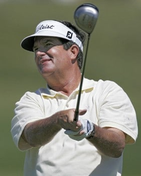 Bruce Lietzke in action during the second round of the 2005 3M Championship at the TPC of the Twin Cities in Blaine, Minnesota on August 6, 2005.Photo by Gregory Shamus/WireImage.com