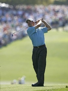 Arron Oberholser during the first round of the 2006 Masters at the Augusta National Golf Club in Augusta, Georgia on April 6, 2006.Photo by Hunter Martin/WireImage.com