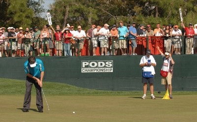 Mark Wilson putts on the 17th hole during the third round of the PODS Championship held on the Copperhead Course at Innisbrook Resort & Golf Club in Tampa Bay, Florida, on March 10, 2007. PGA TOUR - 2007 PODS Championship - Third RoundPhoto by Fred Vuich/WireImage.com