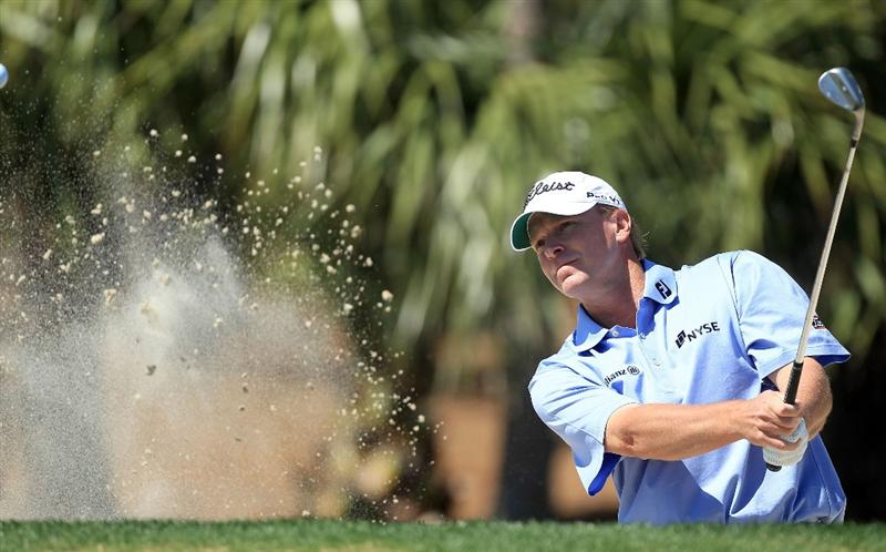 PALM BEACH GARDENS, FL - MARCH 15:  Steve Stricker of the USA hits during the Els for Autism Pro-Am on the Champions Course at the PGA National Golf Club on March 15, 2010 in Palm Beach Gardens, Florida.  (Photo by David Cannon/Getty Images)