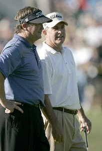 Peter Jacobsen and Jay Haas in action during rhe 2007 PGA Champion's TOUR Toshiba Classic at Newport Beach Country Club in Newport Beach, California on March 10, 2007. Champions Tour - 2007 Toshiba Classic - Final RoundPhoto by Steve Grayson/WireImage.com