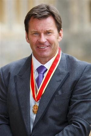WINDSOR, UNITED KINGDOM - NOVEMBER 10:  Sir Nick Faldo poses with his knighthood after receiving it from Queen Elizabeth II at Windsor Castle on Novembert 10, 2009 in Windsor, England.  The 52-year-old becomes a 'Sir' on the back of a career which has seen him win six majors including three Opens.  (Photo by Chris Ison-WPA Pool/Getty Images)